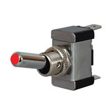 Red LED On/Off Toggle Switch with Metal Lever- 12/24V,0-603-05